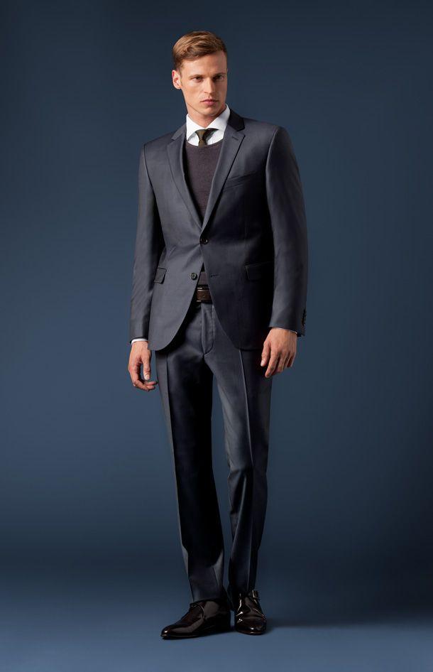 Feingestreifter Anzug Finch-Brad in Marine von Joop