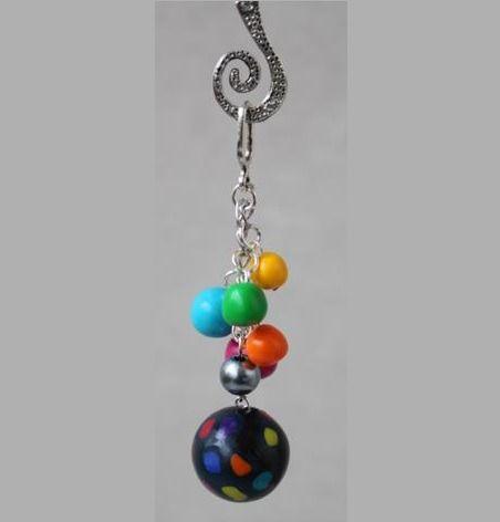 Pendentif perles multicouleurs : Pendentif par ludifimo