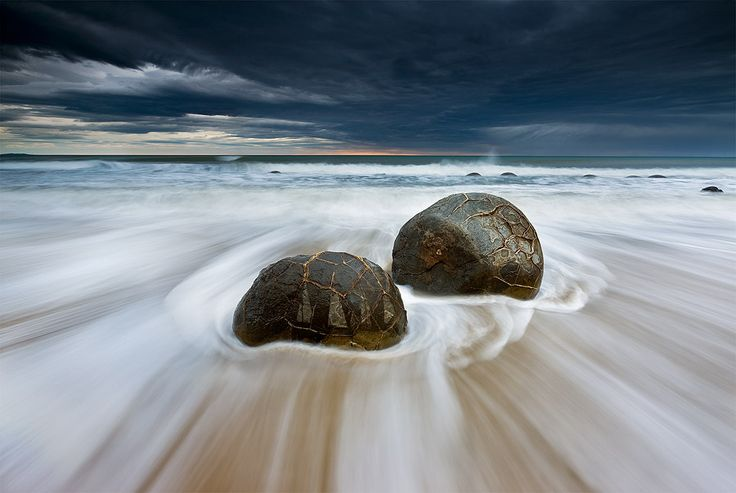 'Moody Moeraki' Moeraki, New Zealand by Kah Kit Yoong