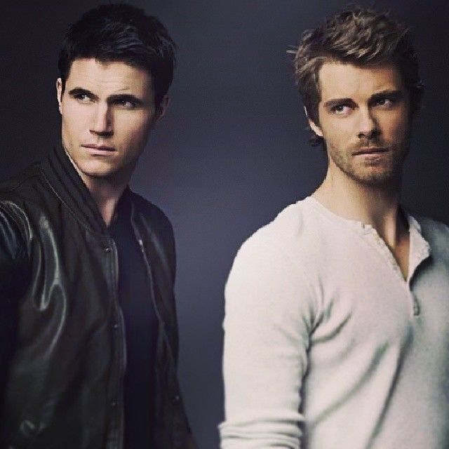 Stephen and John a.k.a Robbie Amell and Luke Mitchell from the Tomorrow People on CW.