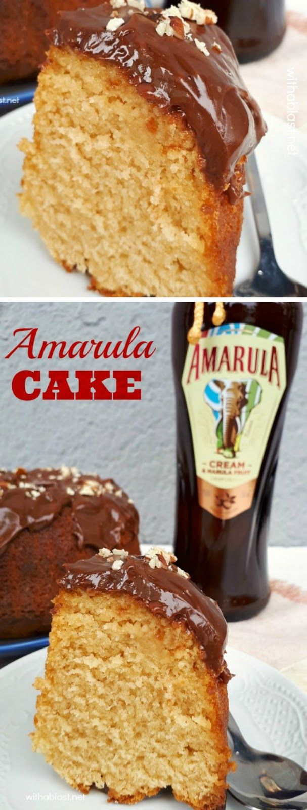 Soft, fluffy and Amarula-Cream drenched cake - absolutely decadent !