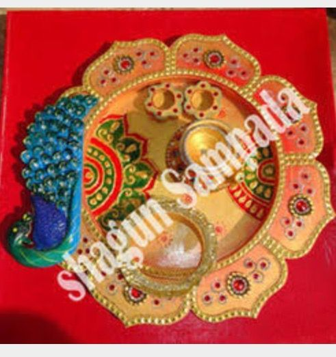 Pin by asha latha on aarthi plates pinterest diwali for Aarthi plates decoration