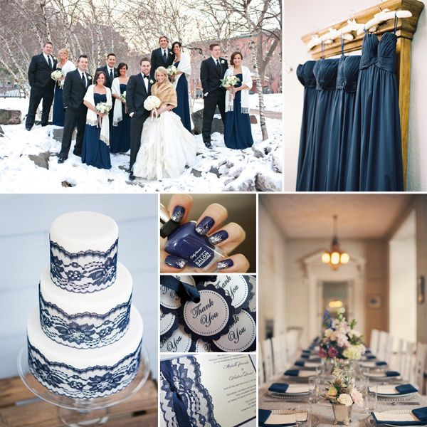 Superb Ideen f r Winter Hochzeit in der Farbe Grau Silber Plum Rosa