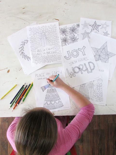 A Lively Hope: Printable Christmas Hymns Coloring Book!