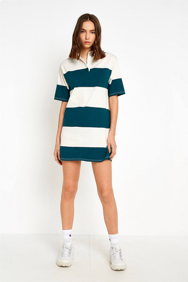 Shop UO Green Rugby Striped Dress at Urban Outfitters today. We carry all the latest styles, colours and brands for you to choose from right here.