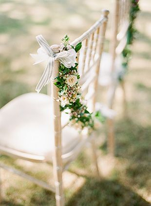 ceremony chair decor | onefabday.com