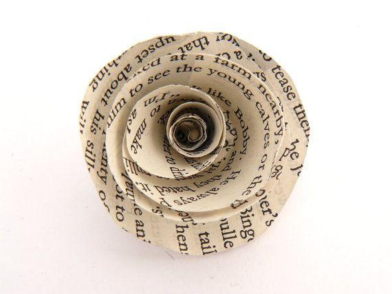 Custom Paper Flower Brooch Clip  Handmade  by QuillingInTheNameOf, €9.00