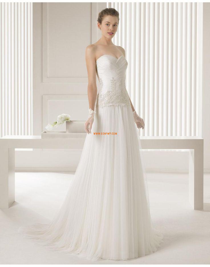 Kostel Délka kostel Bez rukávů Luxusní svatební šaty