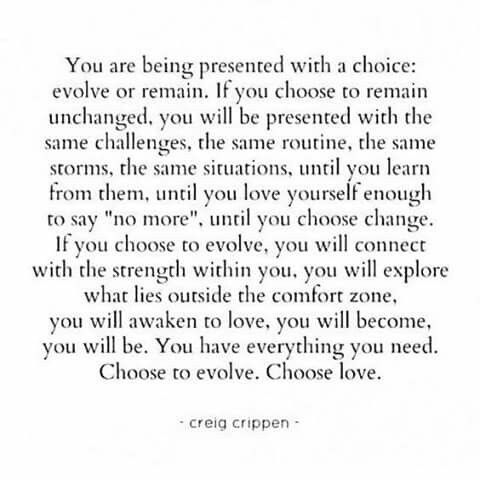 Evolve or remain ...