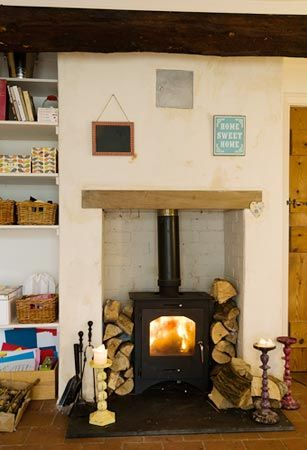 Best Wood Burner Fireplace Ideas Images On Pinterest