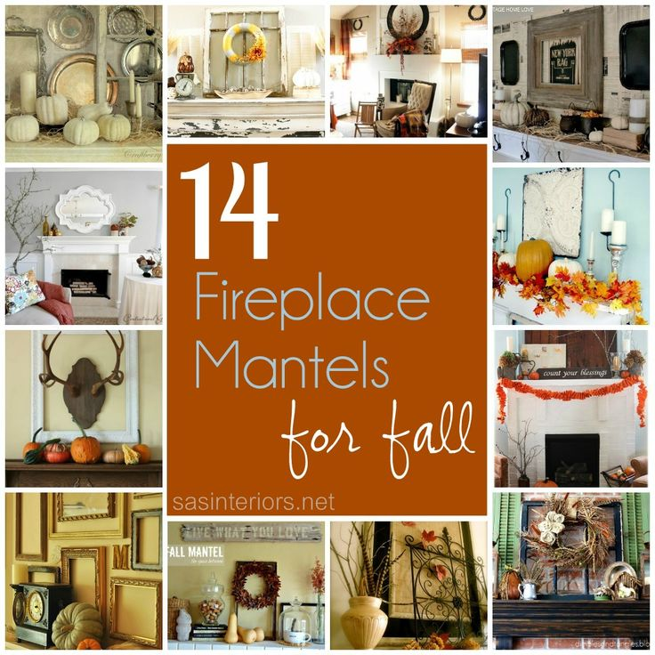 14 Festive Fireplace Mantels for Fall: Fall Decoration, New House, Fireplaces Mantels, Fall Mantels, Autumn Fall, Fireplace Mantels, Festivals Fireplaces, 14 Festivals, Fall Homes