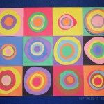 Kids Art Lesson: Kandinsky Inspired Concentric Circles Collage