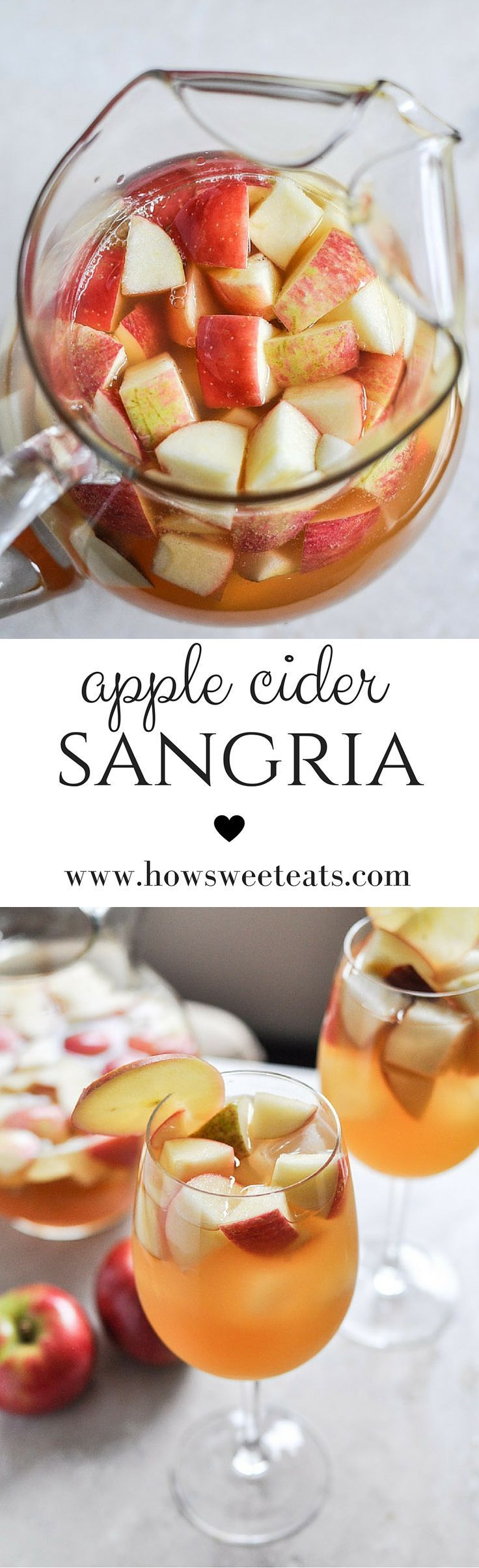 the BEST Apple Cider Sangria by /howsweeteats/ I http://howsweeteats.com