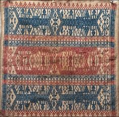 Sumatra tampan ceremonial cloth (ship cloth) .