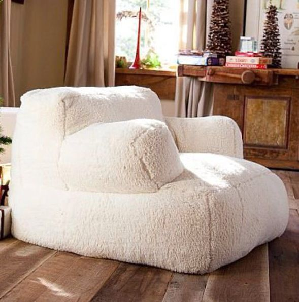 Big fluffy chair kelsey heidelberger college pinterest for Sofas pequenos y comodos