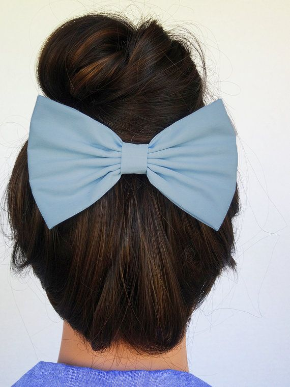 Blue Hair Bow for girls hairbows bows for hair by JuicyBows, $4.99 #hairbow #hairbows #bow #bows #hairclip #hairclips #cute #hairstyle