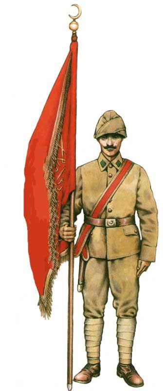 Impero Turco-Ottomano - Alfiere portastendardo 1914-18