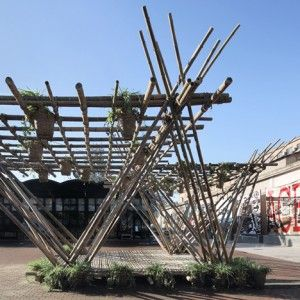 Penda's+bamboo+pavilion+could+be+expanded+to+create+homes+for+200,000+people