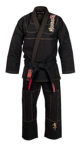 Hayabusa Pro Jiu Jitsu Gi - Black A2 by Hayabusa. $229.99. Long awaited and now finally here! The Hayabusa MMA gi is pushing the envelope when it comes to production innovation & design of jiu jitsu gis. This gi neither looks nor feels like any other BJJ gi we at MMA outlet have ever seen. The accents on this gi are not your basic patches and they're all embroidered so they'll last the lifetime of the gi. The pants have a unqiue four way stretch panel in the crotch for increas...