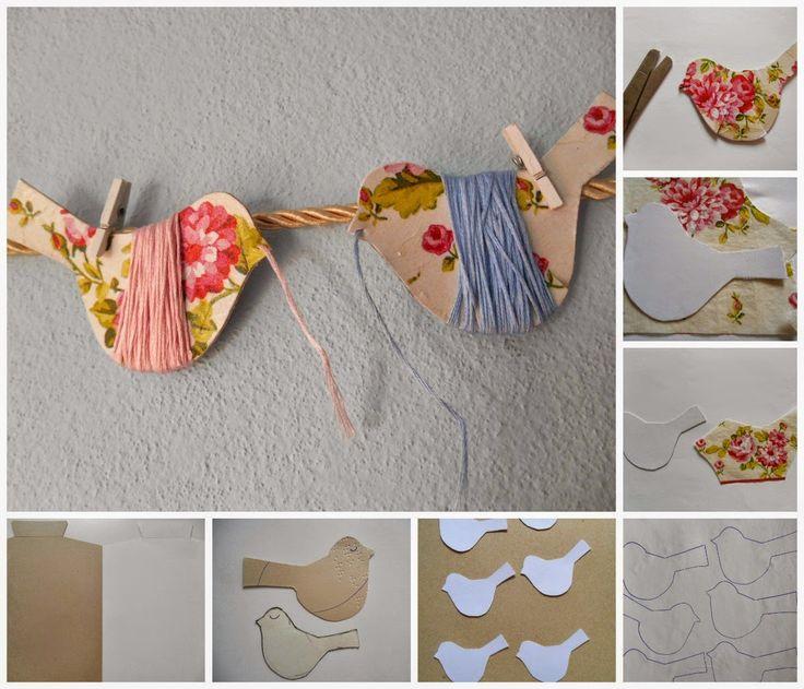 Fuxicando Ideias: 1 Projeto por mês 2015 # 02: Organizando Linhas de bordar - Carreteis de passarinhos