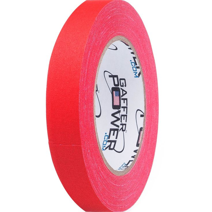 Gaffer Tape by Gaffer Power- Made in the USA, RED 1 Inch X 30 Yards