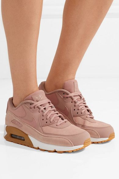 sale retailer da090 b5fc9 ... greece nike air max 90 suede trimmed leather sneakers net a porter  534cd 00838