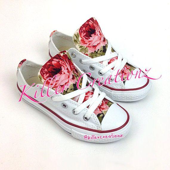 Converse Floral personalizado para niños por KillerCreationz