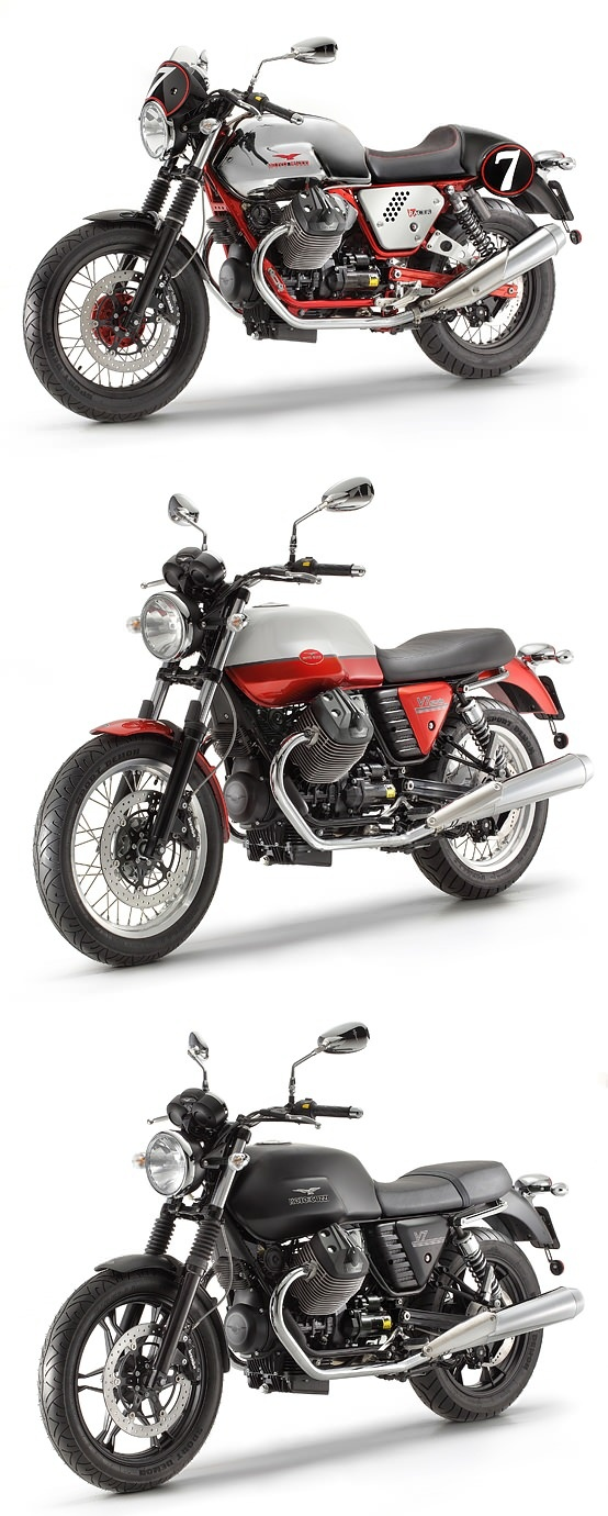 Moto Guzzi reveals the all-new V7 range: the Racer, Special and Stone. From $8,390. What's your favorite? http://www.motoguzzi-us.com