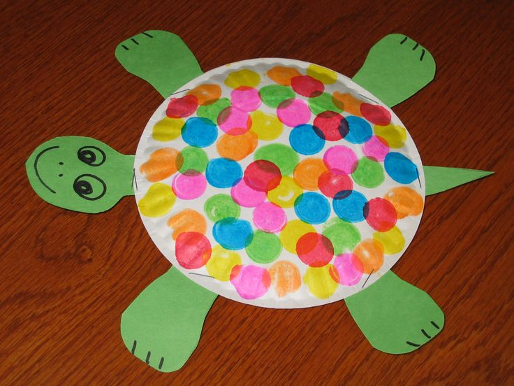 Turtle paper plate craft!