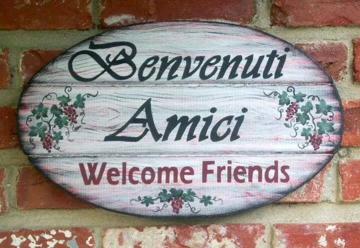 how to say hearty welcome in italian