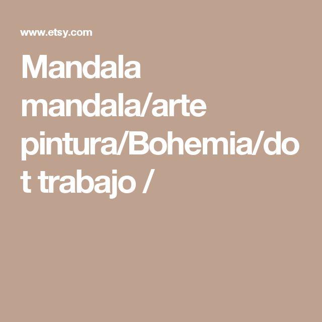 Mandala mandala/arte pintura/Bohemia/dot trabajo /