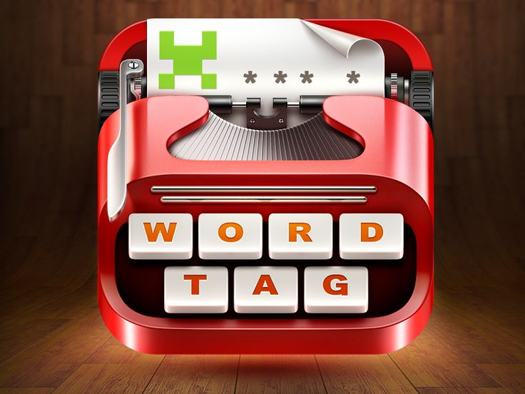 WordTag Game App Icon by Ramotion