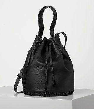 ALLSAINTS Club Bucket. #allsaints #bags #shoulder bags #hand bags #canvas #leather #bucket #