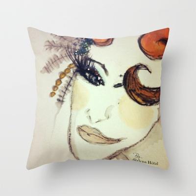 Head Throw Pillow by Helena Hotzl - $20.00