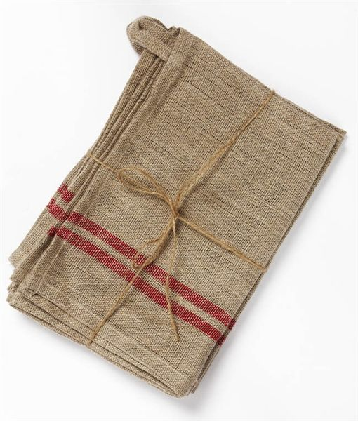 Set of 3, 100% Linen Tea Towels - Nana Huchy