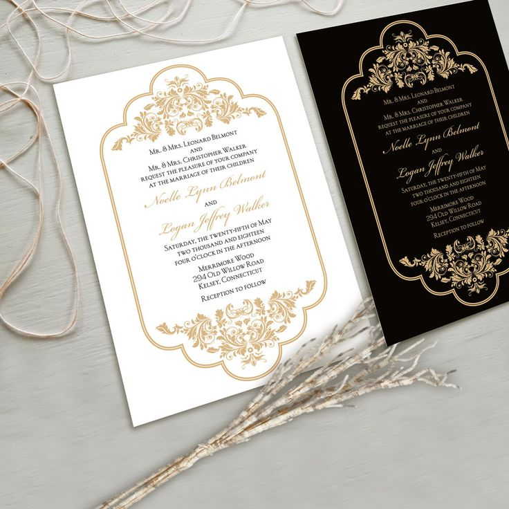 Timeless and Elegant Wedding Invitation Suite White