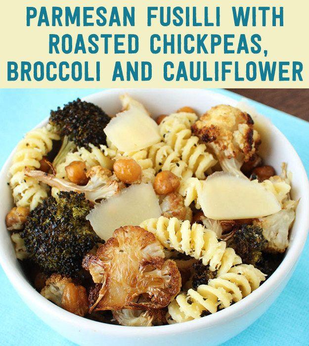 chickpea and cauliflower pasta