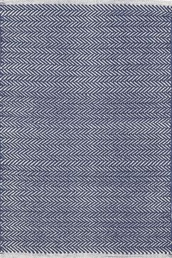Herringbone Indigo Woven Cotton Rug, 8'x10' scandinavian-area-rugs