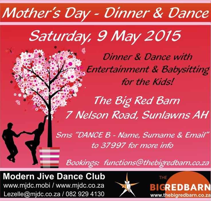 Mother's Day - Dinner & Dance www.mjdc.co.za #dance #mothersday #dinnerdance