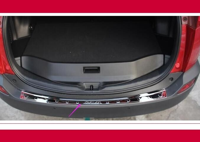 (72.59$)  Buy here  - For 2013 2014 Toyota RAV4 Bright specular reflection Stainless Steel Rear Bumper Sill Protector