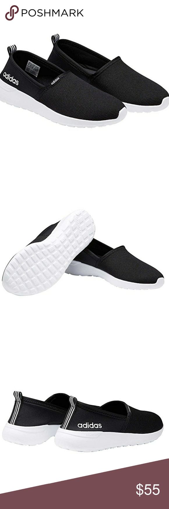 Adidas Black Neo Slip On Shoes Comfortable and Stylish. Light Racer Slip On. Casual Sneaker. Adidas Designs Another Casual yet Cool Shoe. Perfect for Everyday. Take Them Grocery Shopping, on a Brisk Walk, or Match With a Cute Dress. NEVER WORN. COME IN ORIGINAL BOX. TRUE TO SIZE. Adidas Shoes