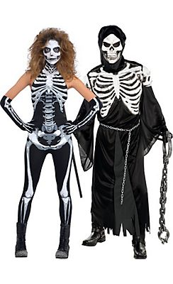 scary skeleton couples costumes - Couple Halloween Costumes Scary