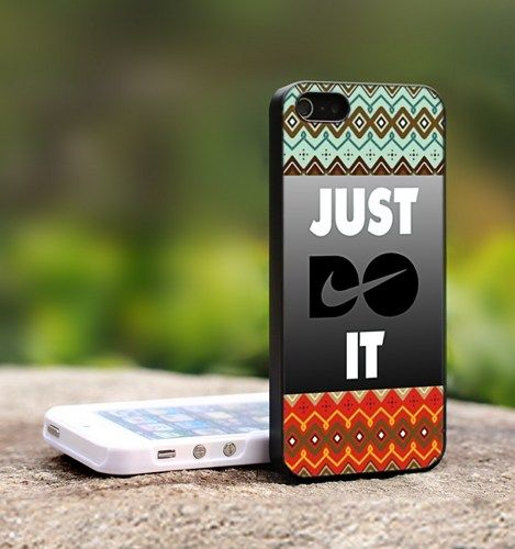 Aztec Motife Nike Just Doit-For iPhone 4,4S Black Case Cover | TheCustomArt