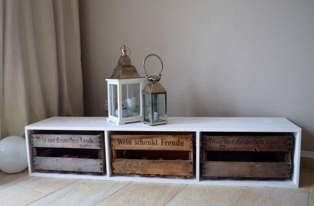 Sideboards - Sideboard / TV Bank mit Weinkisten - ein Designerstück von…