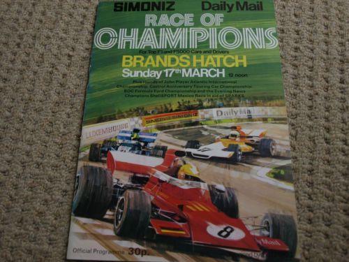 RACE-OF-CHAMPIONS-1974-PROGRAMME-NIKI-LAUDA-LOTUS-72-UOP-SHADOW-JAMES-HUNT-F1