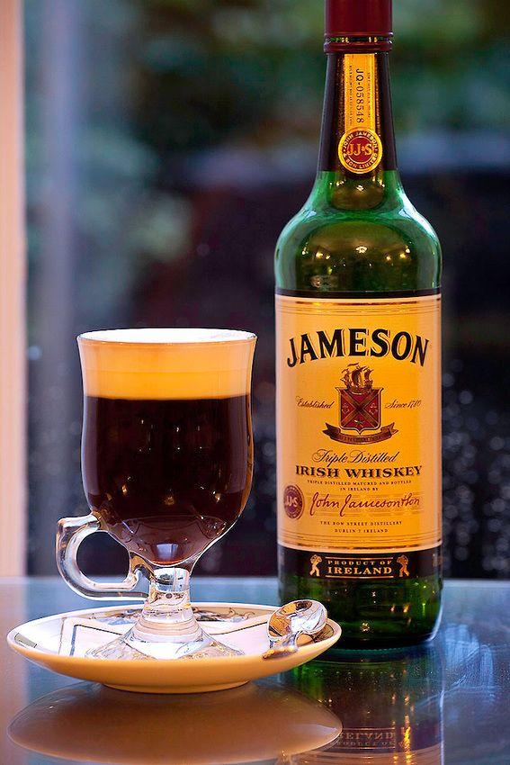 Irish Coffee with Jameson Irish whiskey ~ Dublin's Merrion Hotel (photo by Karl Blackwell)
