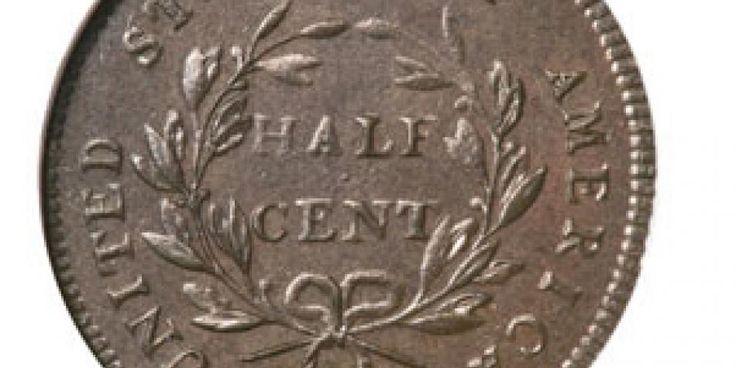 El 'Half-Cent, Liberty Cap' apareció a finales de 1795, autorizada por el…