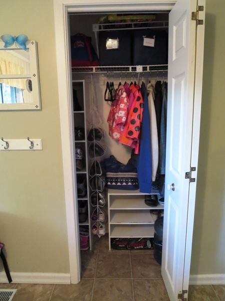 Foyer Closet Storage Ideas : Organizing a small entryway closet day