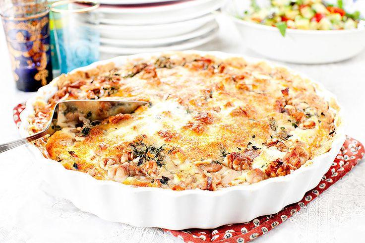 Kycklingpaj med valnötter och lagrad ost!