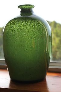 Mid-Century-Art-Glass-Vase-Scandinavian-Plus-Norway-Richard-Duborgh-1960s-MCM